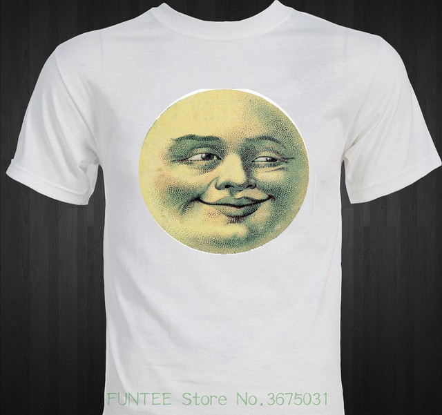 T Shirt Short Sleeve Brand Man In The Moon Funny Victorian Era