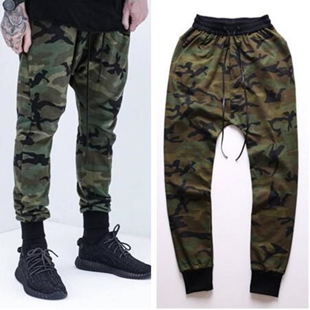 Camouflage Jeans Mens 2016 New Fashion Camo Harem Jeans Drop Crotch Free Shipping M-XXL Men's international fashion feet pants
