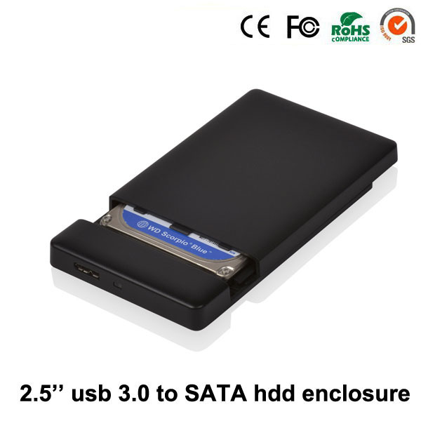 2016 envío libre caja de plástico usb 3.0 a sata externo 2.5 ''hdd del recinto hdd de 1 TB de disco duro caja de disco duro marco MR25K