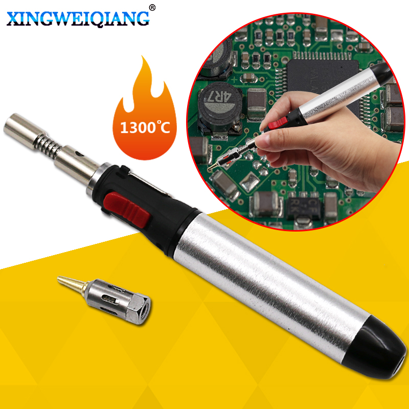 Portable Cordless Solder Iron Gas Soldering Iron Flame Butane 12ml Heat Gun Welding Torches Tool 1300 Degrees Welding Equipment