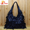 Genuine Leather Luxury Tassels 100% Real Cow Leather Elegant Multi Functional Big Shoulder Bags For Women