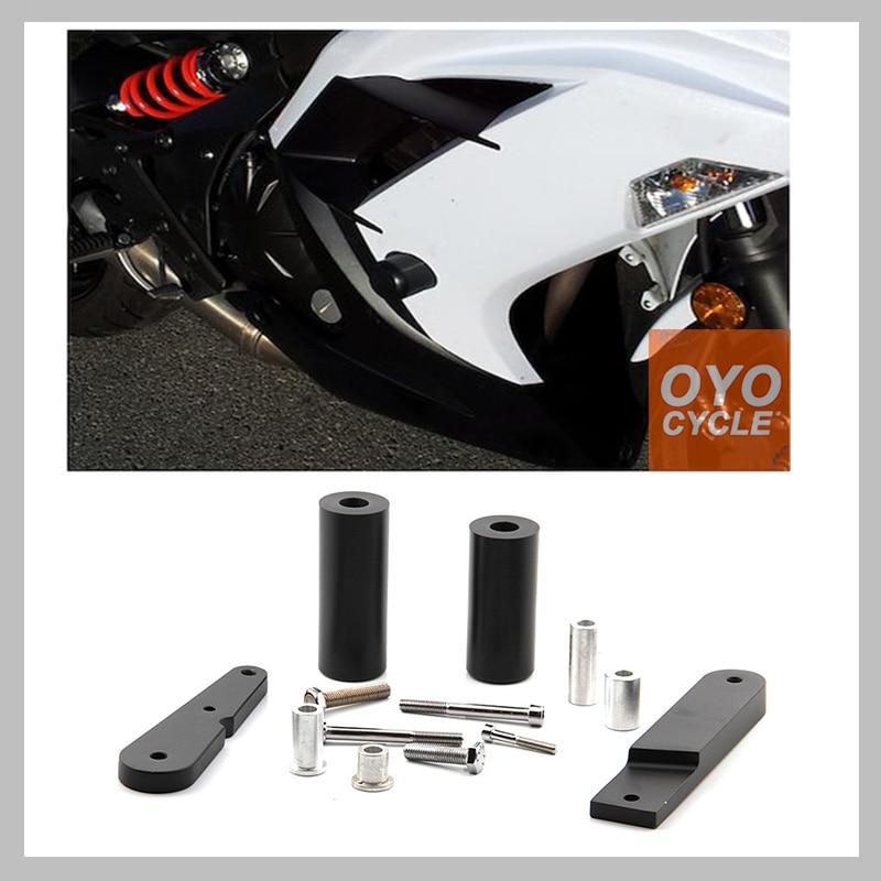 No Cut Frame Slider For 2009-2011 Kawasaki Ninja 650 EX650 650R 2009 2010 2011 Crash Falling Protection Motorcycle Parts