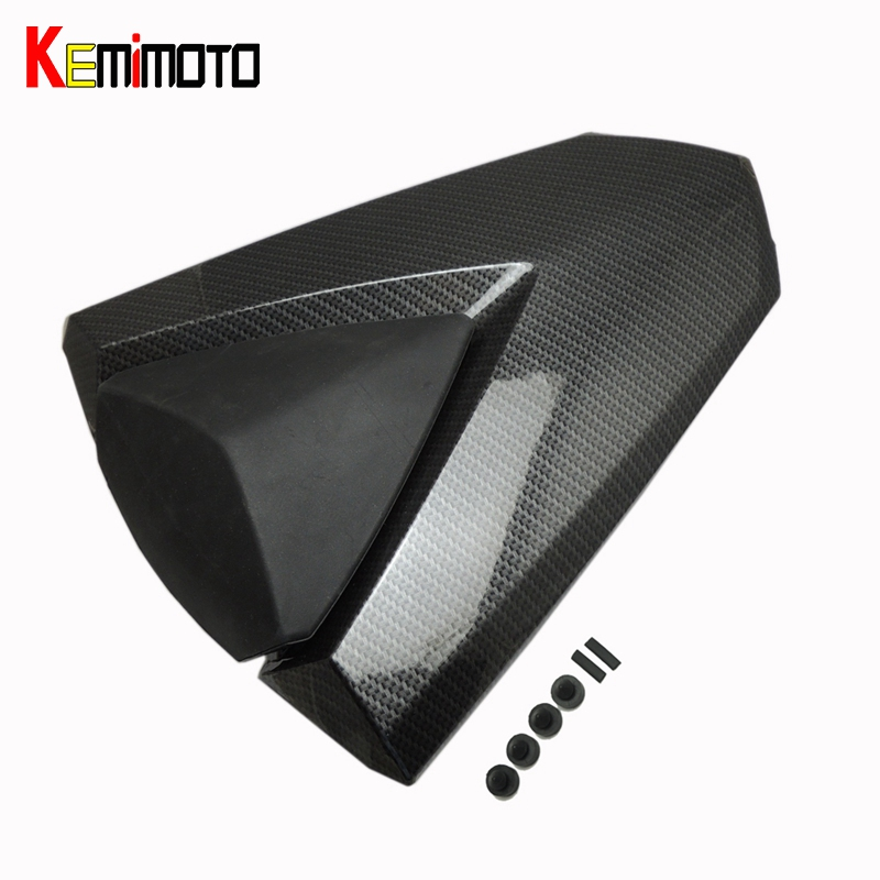 KEMiMOTO Motorcycle Accessories For YAMAHA YZF R25 R3 YZF-R3 2013-2016 Rear Seat Cover Solo Fairing Cowl for ktm 390 duke motorcycle leather pillon passenger rear seat black color