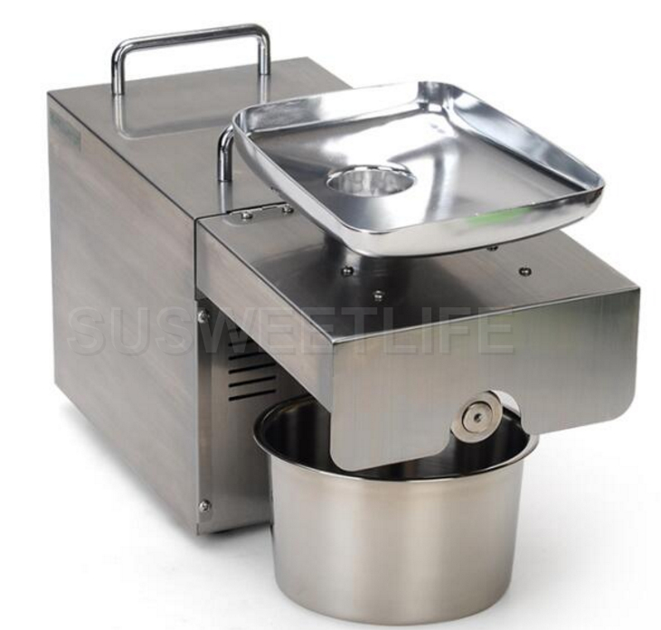 Fast shipping 220V Stainless steel Sunflower machine cold press coconut extractor machine hand operated press