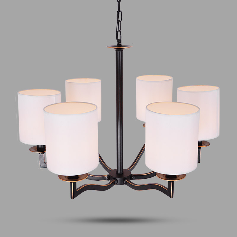 LED Chandelier Black Vintage Wrought Iron Chandeliers Lighting Fixtures LED Hanging Lamp With Lampshade For Living Room Bedroom european chandeliers bedroom living room dining hanging lighting fixtures wrought iron black art retro chandelier e27