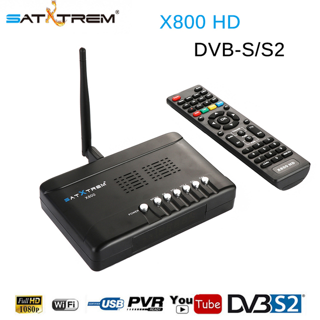 [Genuine]Satxtrem X800-HD Satellite Receiver Full 1080P+1PC USB WiFi DVB-S2 HD Support Cccam Youtube DVB S2 Satellite Receptor
