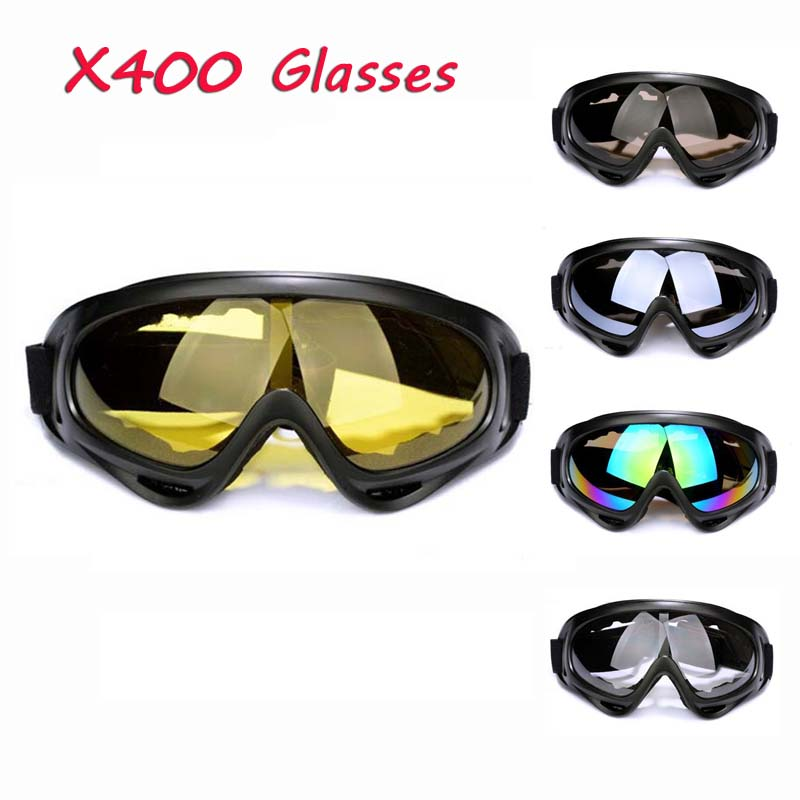New X400 Outdoor Sports Glasses Protective Sunglasses Skate Snowboard Skiing Goggles Men Motorcycle Cycling Windproof Glasses