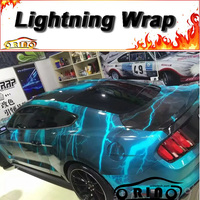 Lightning Wrap Film Car Styling Vehicle Motorcycle Truck Flash Camouflage Vinyl Film Sticker Wrapping With Air Bubble Free