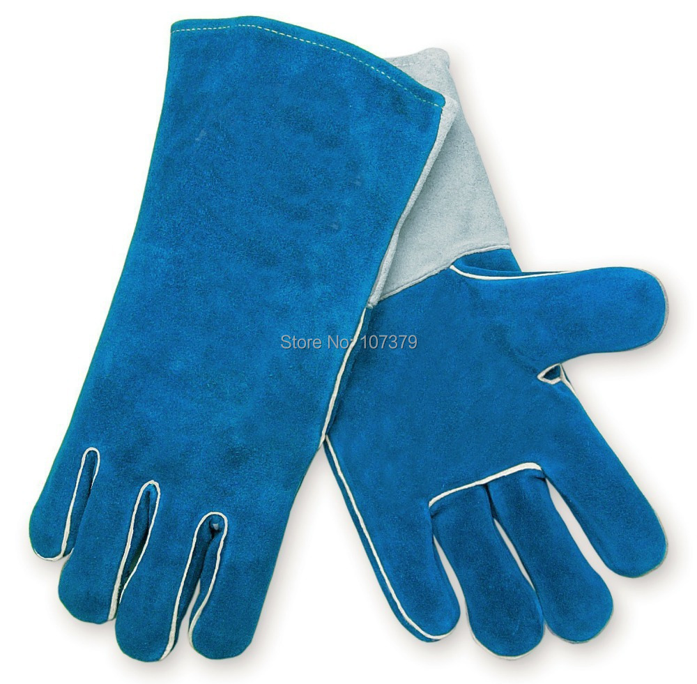 Leather work gloves for welding - Leather Work Glove Leather Welder Safety Glove Split Cow Leather Welding Glove China Mainland
