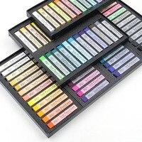 Coréen 12/24/36/48 Couleurs Pastels Tendres Dessin À la Craie Ensemble Coloré Art Crayons De Cheveux Craie Stylos papeterie Fournitures