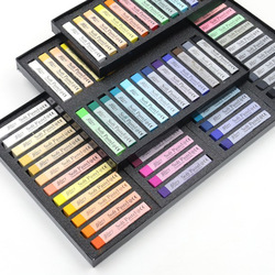 Korean 12/24/36/48 Colors Soft Pastels Drawing Chalk Set Colored Art Hair Crayons Chalk Pens Stationery Supplies
