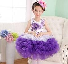 Cute Girls Ballet Dress Children Ballet dance patchwork 5layer Kids Ballet Costumes Girl Dancewear 2017070601