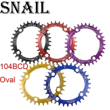 SNAIL Narrow Wide 104BCD 32T/34T/36T Oval Chainring Ultralight A7075 Chainwheel MTB Road Bicycle Crankset Tooth Slice Plate mtb mountain bike bicycle 7075 aluminium crankset disc chainwheel tooth slice bcd96 32t 34t 36t round oval chain wheel