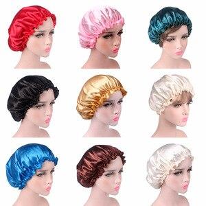 Satin Lace Sleeping Hat Night Sleep Cap Hair Care Satin Bonnet Caps Nightcap For Women