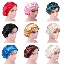 Satin Lace Sleeping Hat Night Sleep Cap Hair Care Satin Bonn