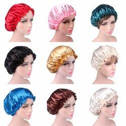 Satynowa koronkowa czapka nocna czapka do spania pielęgnacja włosów satynowa czapka czapka nocna dla kobiet