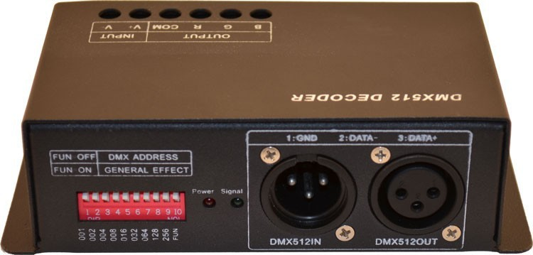 2015 Real Promotion Ce Rgbw Led Dimmer 216w Dc5-24v 3channel*6a Output;dmx Decoder& Driver Constant Voltage Decoder
