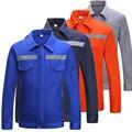 Hallo Vis Langarm Poly Baumwolle Licht Gewicht Reflektierende Sicherheit Arbeit Jacke Arbeitskleidung Hemd