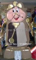 Maskotka Klasyczne Złoty Zegar Budzik Maskotki Kostium Dla Dorosłych Rozmiar Cartoon Character Mascotte Outfit Garnitur EMS DARMOWA WYSYŁKA