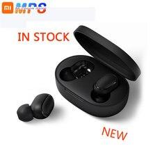 Xiaomi Redmi Airdots TWS Bluetooth 5,0 Kopfhörer Stereo Drahtlose Aktive Geräuschunterdrückung Mit Mic Freihändiger Ohrhörer AI Control