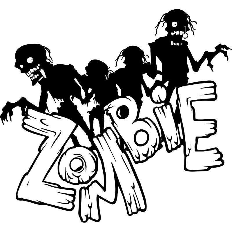 44 Gambar Hitam Putih Zombie HD