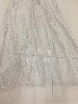 5yards HL340  shining   nice pattern glued print glitter  tulle mesh fabric for evening dress/party/wedding