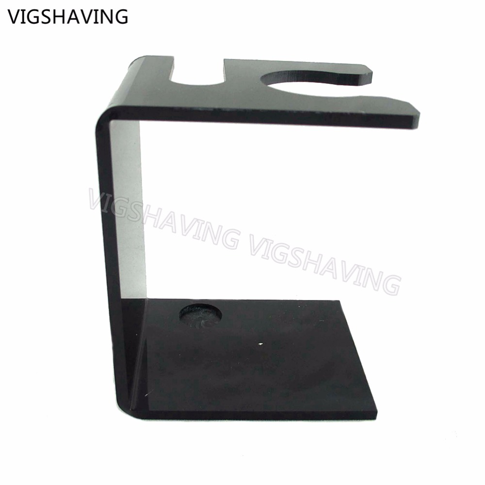26mm Opening Black Acrylic Shaving Set Stand For Brush And Razor