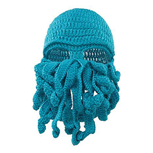Image 3 - Winter face mask hand woven mask snowboard octopus wool balaclava funny hat warm bonnet homme cap face mask winter casual cap