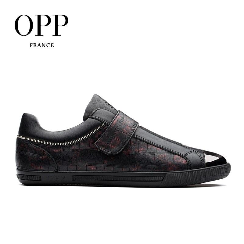 Red De Vache Mocassins amp; Cuir Pour En Les Nouveau Chaussures Boucle Crochet Casual D'opp Hommes 2018 Black 8xRqanf