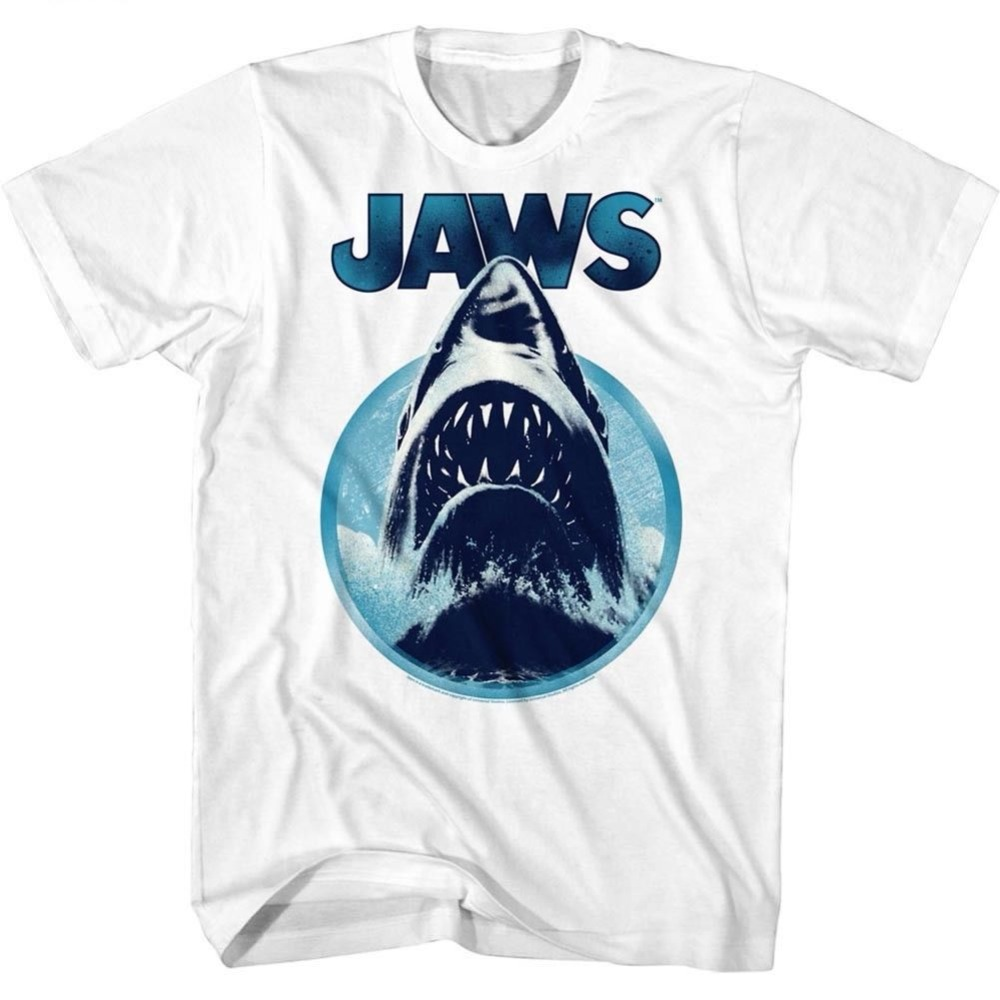 Brand New 2019 Summer Mens Short OFFICIAL Jaws Shark Hole Movie Men's T-Shirt Cute T Shirts image