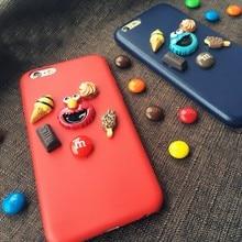 Улица Сезам шоколад фасоль десерт из искусственной кожи Мягкий чехол для iPhone 7 7 Plus 6 6S Plus