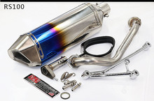 Universal 51mm yoshimura stainless steel Motorcycle Muffler Moto Exhaust pipe For Kawasaki ZX6R ZX10R ZZR400 Z750 Z800 ER6N ER6R