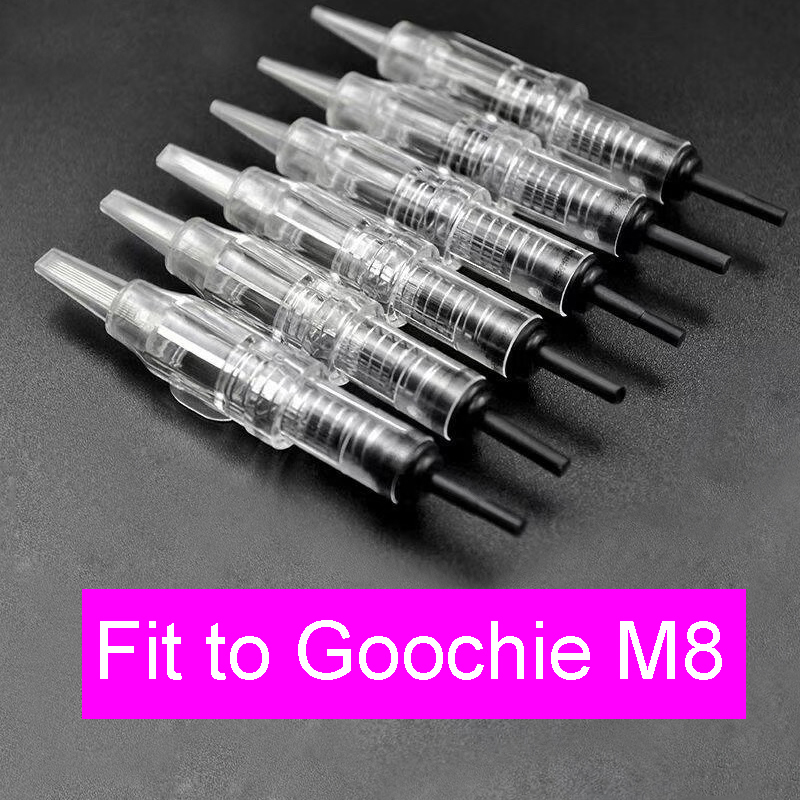 20pcs Microblading Needles For Goochie Needles PMU For Goochie M8 Machine Pen Permanent Makeup Blades For Eyebrow Lips Eyeliner