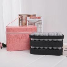 84 butelki PU skóra diamentowa malowanie Charms dżetów przechowywanie narzędzi torba Case organizator koraliki diamentowe hafty schowek