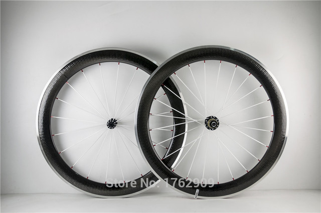 Cheap 2016 Newest 700c 60mm moonscape clincher rims Road bike carbon fibre bicycle wheelsets with alloy brake surface dimple Free ship