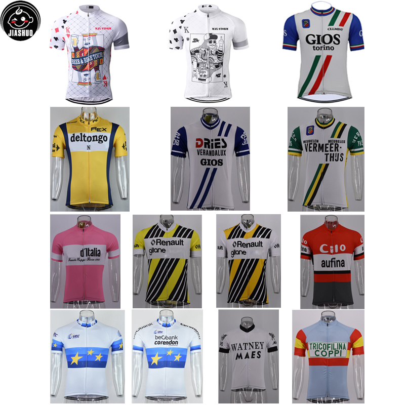 Retro Classical All New Mountain Road RACE Team Bike Cycling Jersey Tops Breathable Customized Jiashuo Styles 4 Pockets