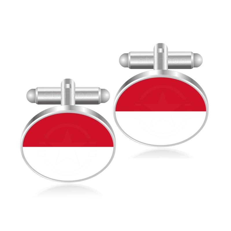 Indonesia Flag Cufflinks