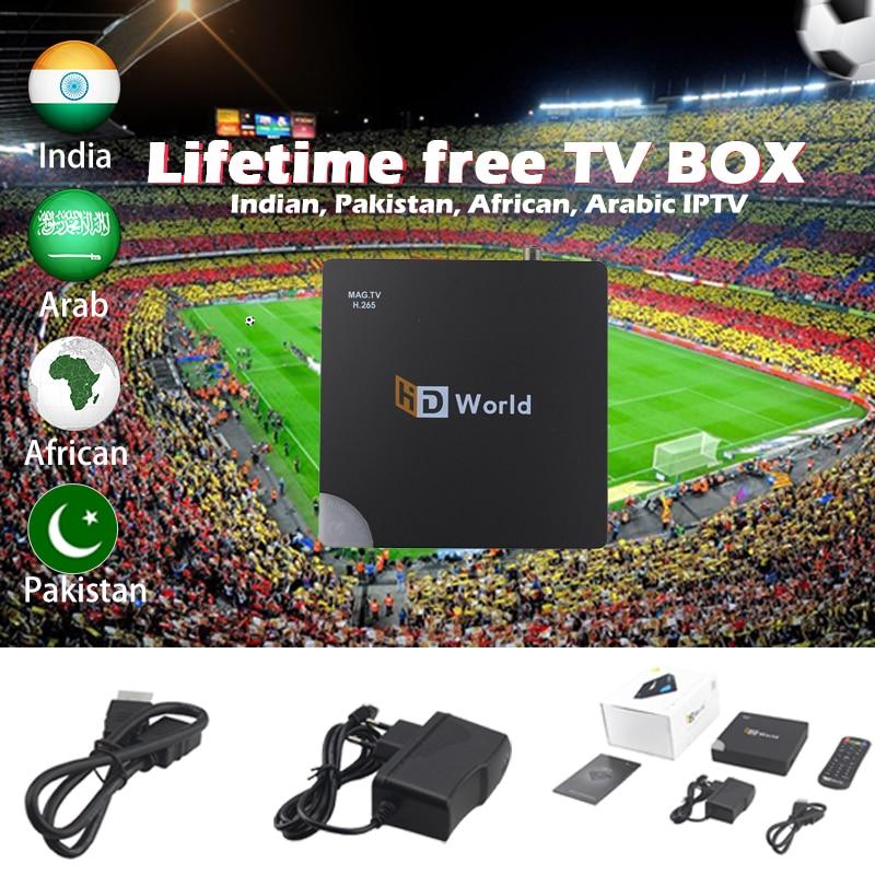 Meilleur Stable afrique IPTV HD monde GX6621 Linux TV Box 1000M 1G/8G à vie gratuit arabe Pakistan indien africain IPTV abonnement