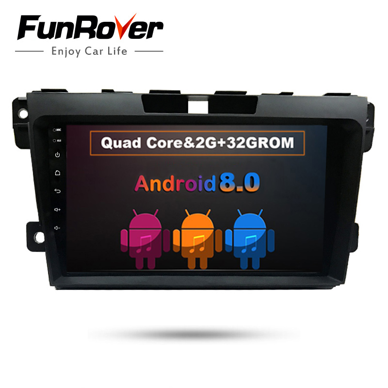 Funrover 9 Android 8.0 2 din Car DVD radio stereo multimedia Player For Mazda CX7 CX-7 CX 7 2008-2015 headunit WIFI GPS navi FM funrover 9 2 din android 8 0 car radio multimedia dvd player gps for great wall haval h3 h5 2010 2013 glonass wifi fm quad core