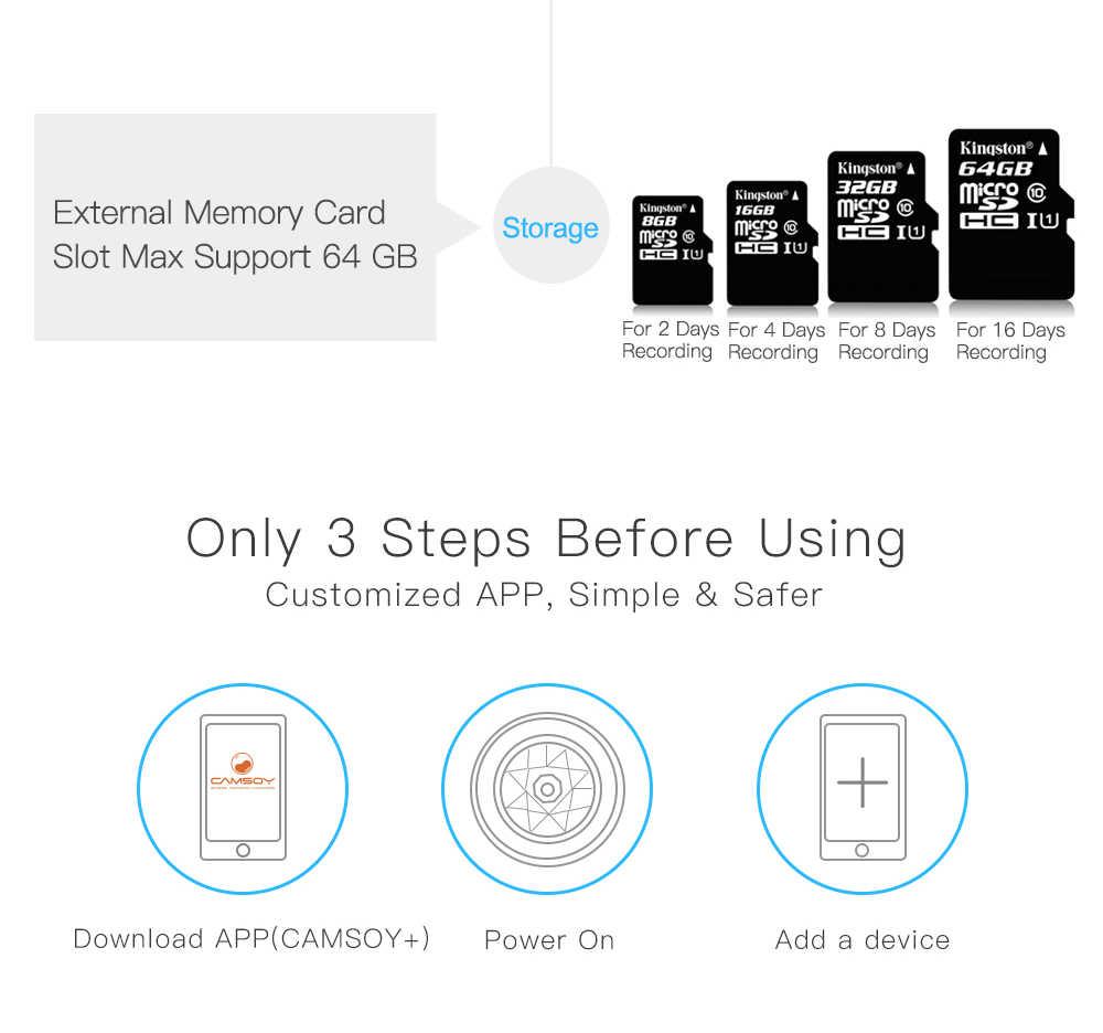 Camsoy C6 мини-камера Wi-Fi со смартфоном видео Запись IP микрокамера Обнаружение движения P2P Видеорегистраторы для автомобилей, система видеонаблюдения, мини-камера