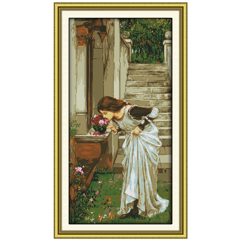 Backyard Girl Patterns Counted Cross Stitch DIY 11CT 14CT Cross Stitch Set Chinese Cross-Stitch Kits Embroidery NeedleworkBackyard Girl Patterns Counted Cross Stitch DIY 11CT 14CT Cross Stitch Set Chinese Cross-Stitch Kits Embroidery Needlework