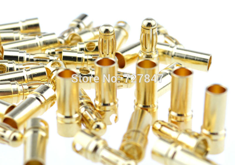 10 компл. 4.0 мм золотая пуля разъем для RC аккумулятор