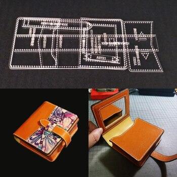 ab9625ec Plantilla acrílica de corte láser plantilla DIY cuero artesanal bolso de  hombro patrón de costura 140x190x60mm