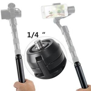 Image 2 - Zhiyun Pergear אלומיניום מיני שולחן חצובה רגל לdji אוסמו 3 פעולה חלק 4 vilta m pro gimbal Selfie מקל להארכה חדרגל