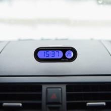 Автомобиль-Стайлинг цифровые часы термометр украшения для KIA RIO Ford Focus hyundai IX35 Solaris Mitsubishi ASX Outlander Pajero