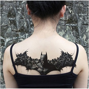 Image 2 - New designs Chest Flash Tattoo large rose flower dragonfly shoulder arm Sternum tattoos henna body/back paint Under breast skull