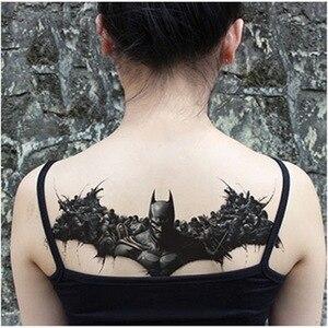 Image 2 - Thiết kế mới Ngực Flash Tattoo Hoa Hồng lớn hoa chuồn chuồn vai cánh tay Xương Ức hình xăm Henna cơ thể/lưng sơn Dưới ngực đầu lâu