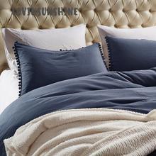 LOVINSUNSHINE Bed Linen Set Queen Duvet Cover High Quality Classy Textile Pure Color Linings AB#90