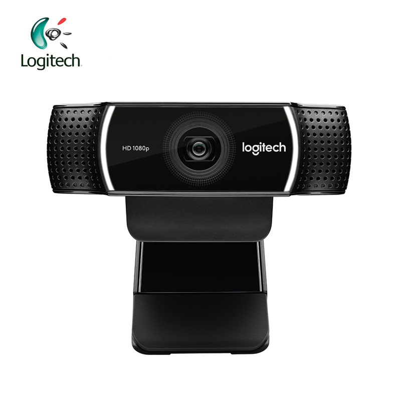 Logitech C922 HD 1080p WebCam Full 720P with Built in Microphone Video Call Recording Support Official Inspection wireless service call bell system popular in restaurant ce passed 433 92mhz full equipment watch pager 1 watch 7 call button