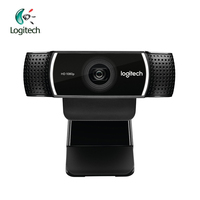 Logitech C922 HD 1080p WebCam Full 720P With Built In Microphone Video Call Recording Support Official